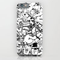 iPhone Cases featuring ouchcollage by ouchgrafix urban art