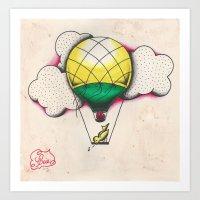Bird Balloon Art Print