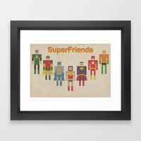 Retro SuperFriends Framed Art Print