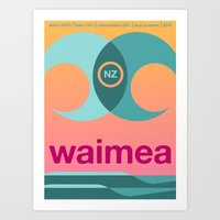Waimea Single Hop Art Print