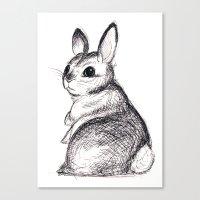 Ballpoint Bunny Canvas Print