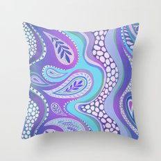 Patterned Purple Paisley Throw Pillow