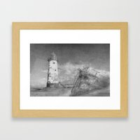 The wrecks Framed Art Print