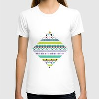Pattern Womens Fitted Tee White SMALL