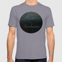 Beauty in the Darkness Mens Fitted Tee Slate SMALL