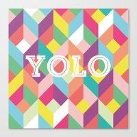 YOLO Geometric Canvas Print