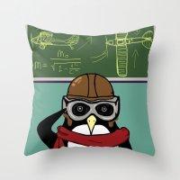 Little Penguin, Big Plans Throw Pillow