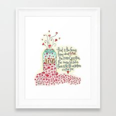 The Thing About Love... Framed Art Print