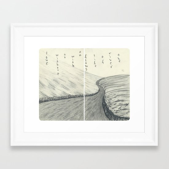 The River of Life (round corners) Framed Art Print