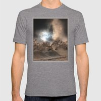 Heavy Duty Earthworks During An Eclipse Mens Fitted Tee Tri-Grey SMALL