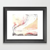 Traces (V) Framed Art Print
