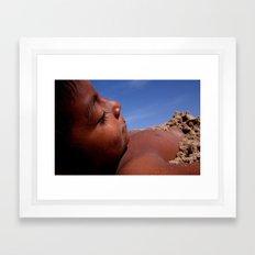 Wittos (Blue) Little Indian Sand Boy  Framed Art Print