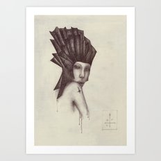 cross / scar Art Print
