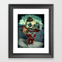Beastie Calavera. Framed Art Print