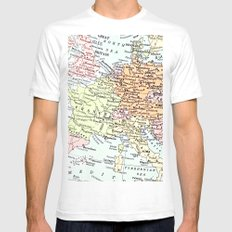 European tour White Mens Fitted Tee SMALL