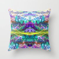 Crystal Mountains One Throw Pillow