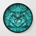 The Forest Maine Coon Wall Clock
