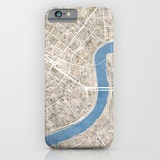 New Orleans Cobblestone Watercolor Map iPhone 6s Slim Case