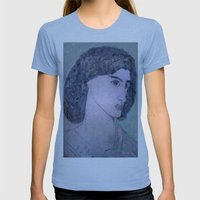 JANE BURDEN STUDY Womens Fitted Tee Athletic Blue SMALL