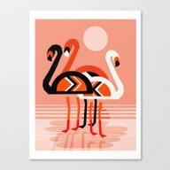 Posse - Flamingo Throwba… Canvas Print