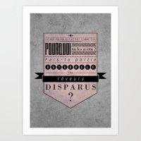Reveurs Disparus Art Print
