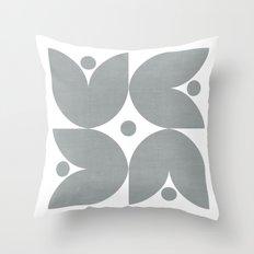 the tulips - gray Throw Pillow