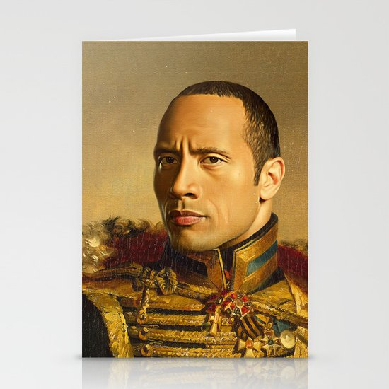 Dwayne (The Rock) Johnson - replaceface Stationery Card