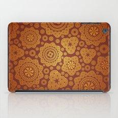 Warm Gold Paisley Pattern iPad Case