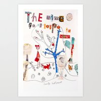 The Time To Be Happy Is … Art Print