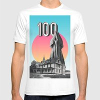 100 Nuns Mens Fitted Tee White SMALL