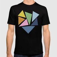 Abstraction #5 Mens Fitted Tee Black SMALL