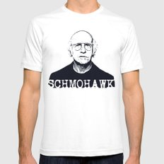 Schmohawk  |  Larry David   Mens Fitted Tee White SMALL