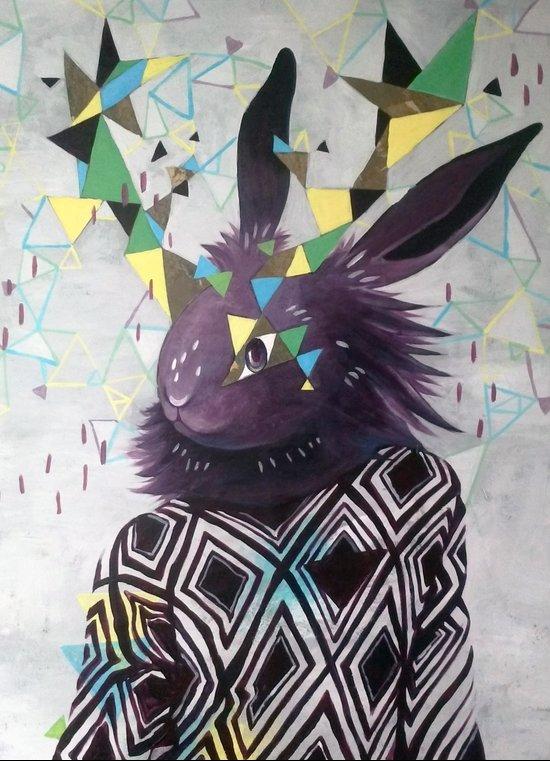 Dark Rabbit Art Print