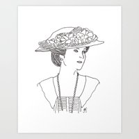 Mary Crawley Art Print