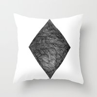 Graphite Diamond Throw Pillow