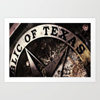 Republic Of Texas Art Print