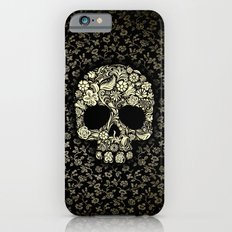 Sugar Skull flower pattern iPhone 4 4s 5 5s 5c, ipod, ipad, pillow case and tshirt iPhone 6 Slim Case