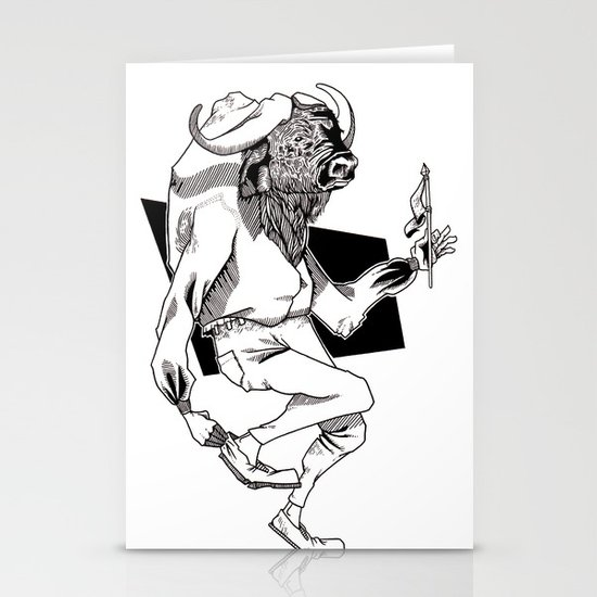 Bison Stationery Card