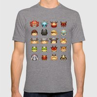 Little Dragons Mens Fitted Tee Tri-Grey SMALL