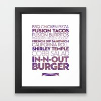 Los Angeles — Delicious City Prints Framed Art Print