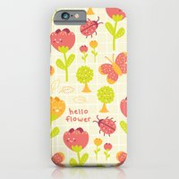 iPhone & iPod Case featuring Hello Flower by Leanne Oughton