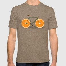 Zest (Orange Wheels) Mens Fitted Tee Tri-Coffee SMALL