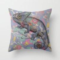 Chameleon(4) Throw Pillow