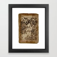JC: Cleanses the Temple Framed Art Print