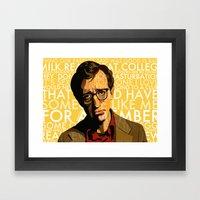 Woody Allen - Annie Hall… Framed Art Print