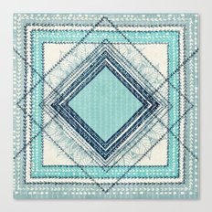 Teal Quilt  Canvas Print
