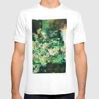 Here Somewhere Mens Fitted Tee White SMALL