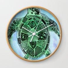 Tatoo Sea Turtle Wall Clock