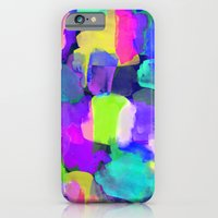 iPhone & iPod Case featuring Brushstroke Blue by Amy Sia