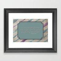 Anything Framed Art Print